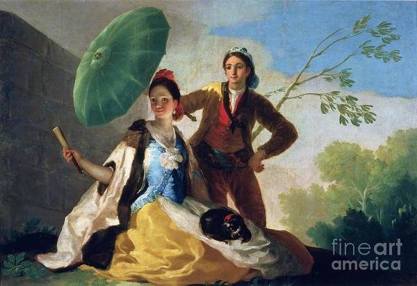 Tapestry Painting - The Parasol by Goya