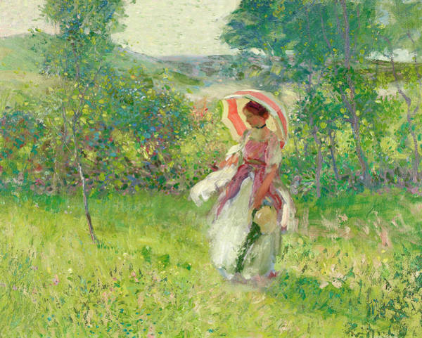Parasol Painting - The Parasol by Richard Miller