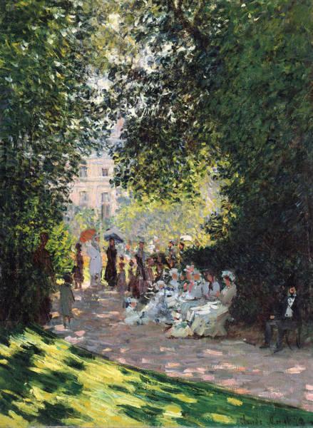 Painting - The Parc Monceau by Claude Monet
