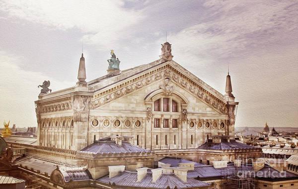 Galeries Lafayette Photograph - The Paris Opera 2 Art by Alex Art and Photo