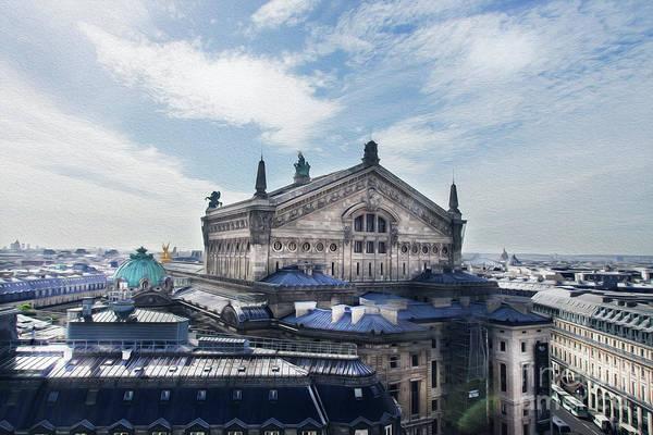 Galeries Lafayette Photograph - The Paris Opera 3 Art by Alex Art and Photo