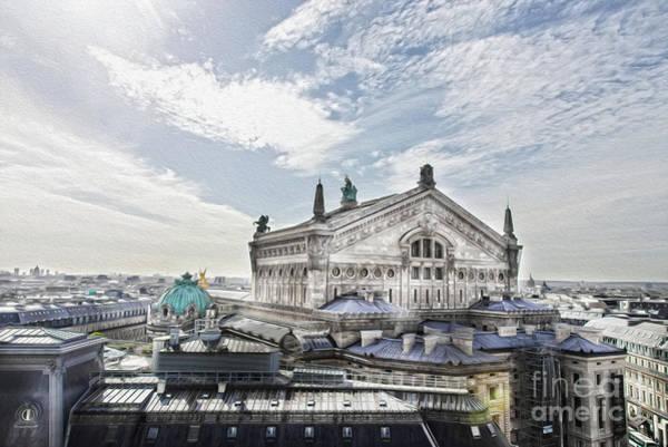 Galeries Lafayette Photograph - The Paris Opera 4 Art by Alex Art and Photo