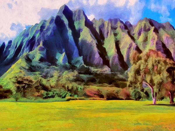 Painting - The Park At Kualoa by Dominic Piperata