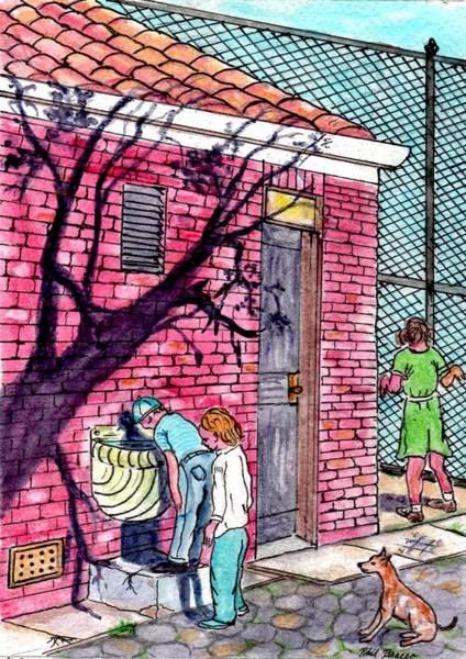 The Park Fountain Brooklyn Ny 1945 Art Print