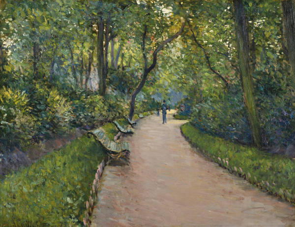 Painting - The Park Monceau by Gustave Caillebotte