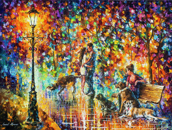 Wall Art - Painting - The Park Of Advanture  by Leonid Afremov