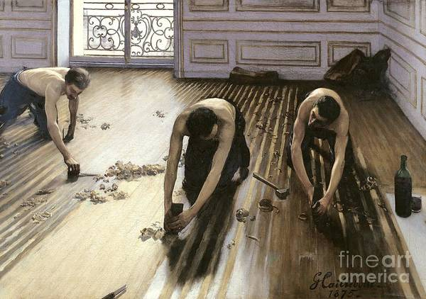 Tool Painting - The Parquet Planers by Gustave Caillebotte