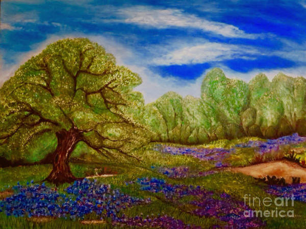 Texas Bluebonnet Digital Art - The Part Of Texas I Can Never Leave Behind With Digital Enhancement by Kimberlee Baxter