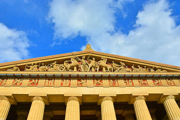 Photograph - The Parthenon In Nashville Tennessee 2 by Lisa Wooten