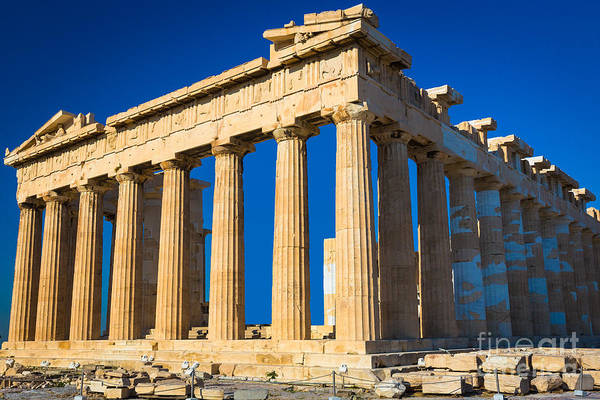 Greece Photograph - The Parthenon by Inge Johnsson