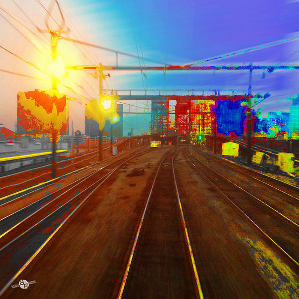 Painting - The Past Train 2 Square by Tony Rubino
