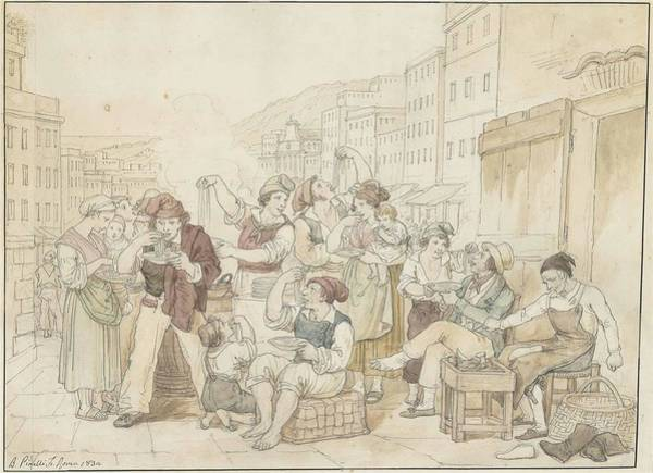 1781 Painting - The Pasta Vendor by Bartolommeo Pinelli