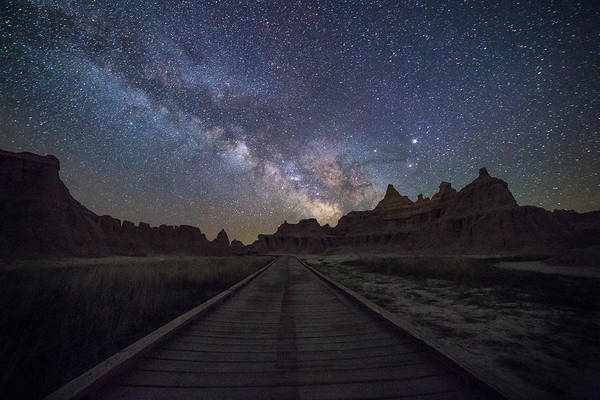 Badlands Photograph - The Path by Aaron J Groen
