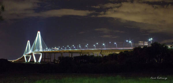 Photograph - The Path Above The Ships Arthur Ravenel Jr Bridge Charleston South Carolina by Reid Callaway