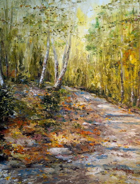 Jogging Painting - The Path by Alan Lakin