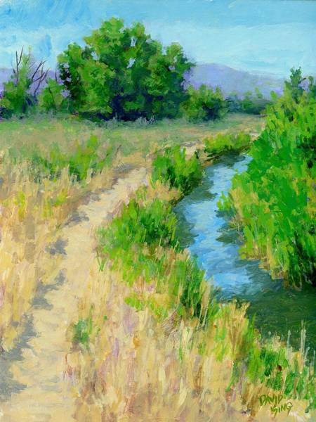 Painting - The Path By The Ditch by David King