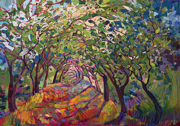 Outdoors Painting - The Path by Erin Hanson