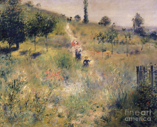 Wall Art - Painting - The Path Through The Long Grass by Pierre Auguste Renoir