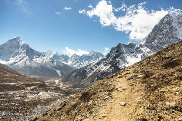 Photograph - The Path To Cho La Pass In Nepal by Didier Marti