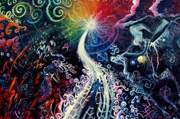 Chakra Wall Art - Painting - The Path To Enlightenment by Steve Griffith