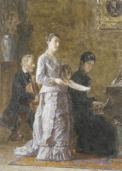 Drawing - The Pathetic Song by Thomas Eakins