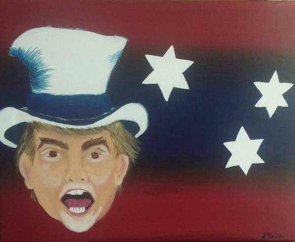 Election 2016 Painting - The Patriot by Denise Mauldin
