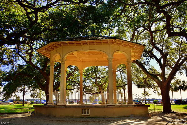 The Pavilion At Battery Park Charleston Sc  Art Print