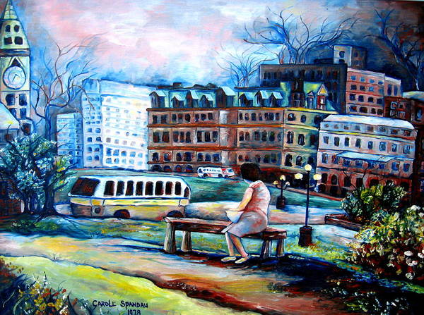 Painting - The Peace Tower In Ottawa by Carole Spandau