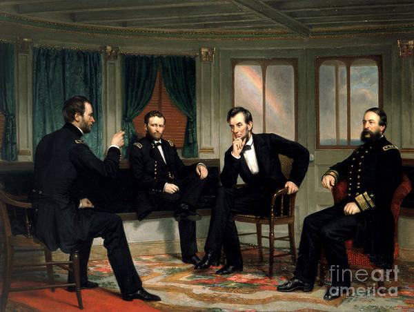 William Tecumseh Sherman Painting - The Peacemakers, 1865 by George Peter Alexander Healy