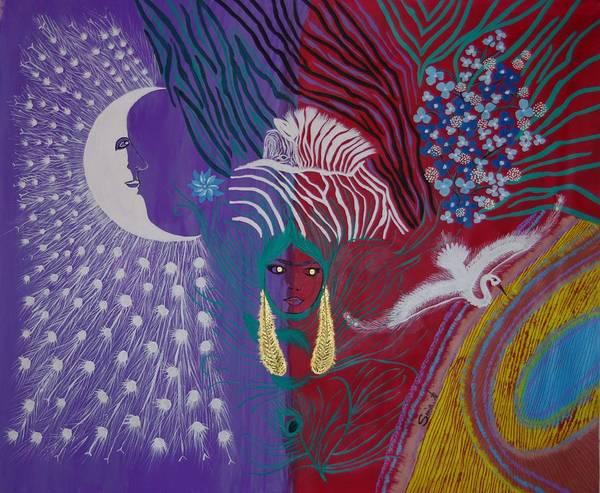 The Peacock Moon Art Print