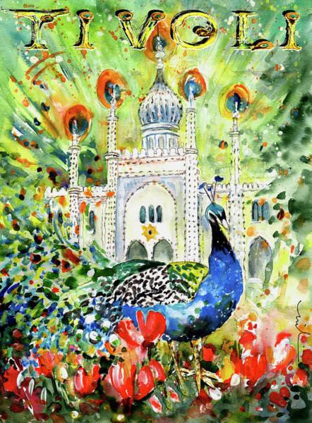Painting - The Peacock Of Tivoli Gardens by Miki De Goodaboom