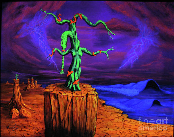 Blacklight Painting - The Pedestal by Vincent Monaco