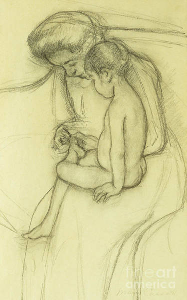 Care Drawing - The Pedicure by Mary Stevenson Cassatt