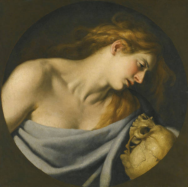 Cesare Painting - The Penitent Magdalene by Cesare Fracanzano
