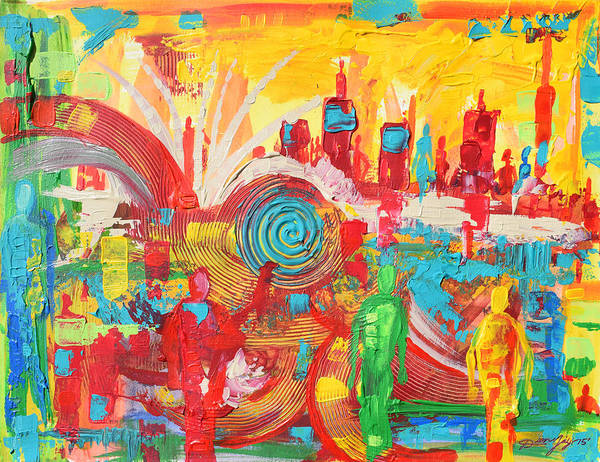 Wall Art - Painting - The People Abstract by The Art of DionJa'Y