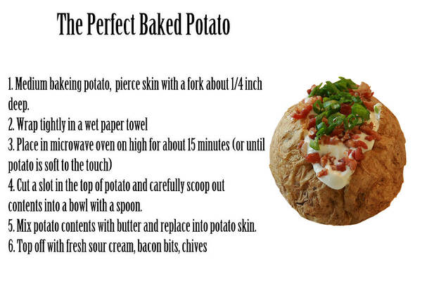 Scallion Photograph - The Perfect Baked Potato by Michael Ledray