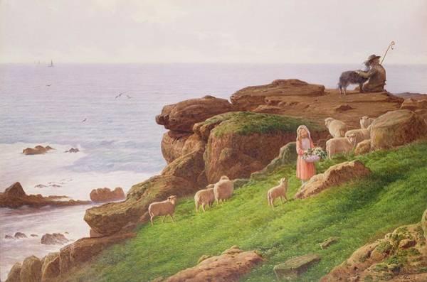 The Shepherdess Wall Art - Painting - The Pet Lamb by J Hardwicke Lewis