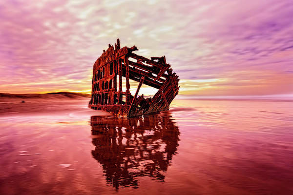 Photograph - Peter Iredale Fantasy by Kay Brewer