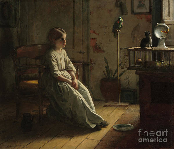 Wall Art - Painting - The Pets by Eastman Johnson
