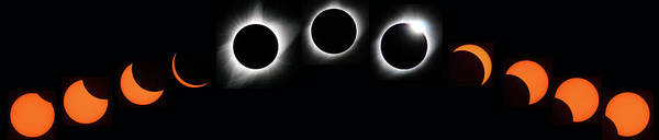 Photograph - The Phases Of An Eclipse - Curved by Matt Swinden