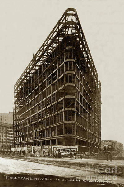 Photograph - The Phelan Building 760 Market St.  Circa 1908 by California Views Archives Mr Pat Hathaway Archives