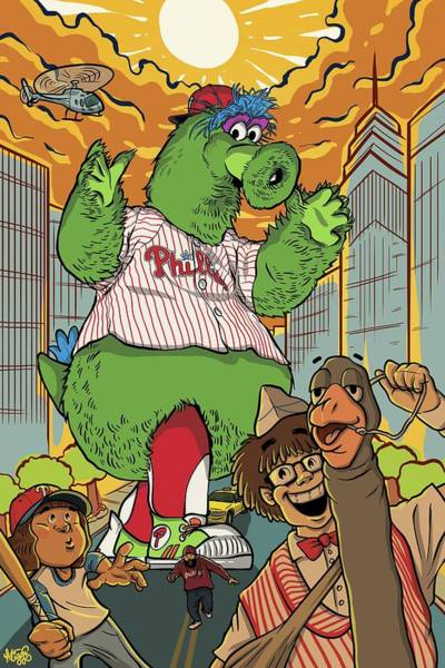Wall Art - Drawing - The Pherocious Phanatic by Miggs The Artist