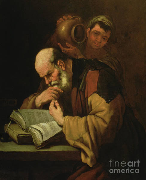 Wall Art - Painting - The Philosopher By Jusepe De Ribera by Jusepe de Ribera