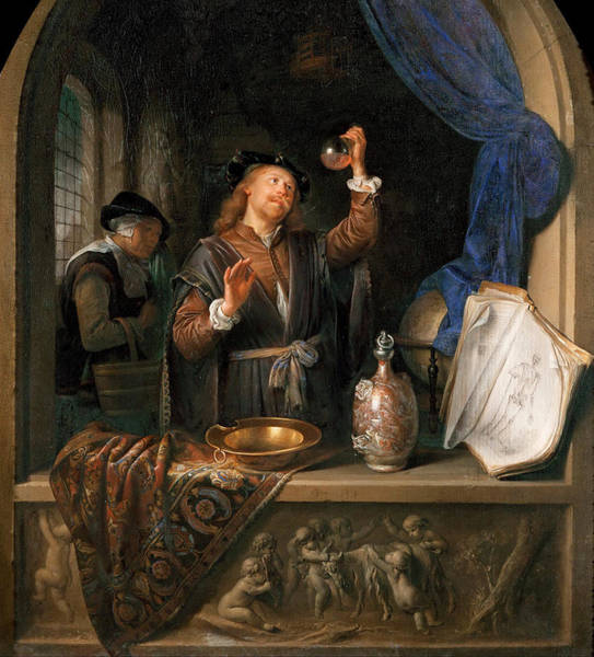 Experiment Painting - The Physician by Gerrit Dou