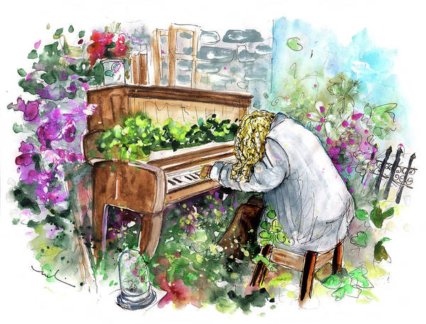 Painting - The Pianist From Machynlleth by Miki De Goodaboom