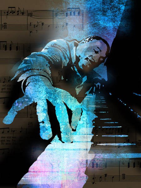 Pianist Painting - The Piano Man by Paul Sachtleben