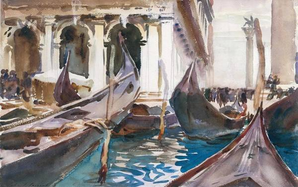 Wall Art - Painting -   The Piazzetta by John Singer Sargent