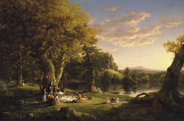 Wall Art - Painting - The Pic-nic by Thomas Cole