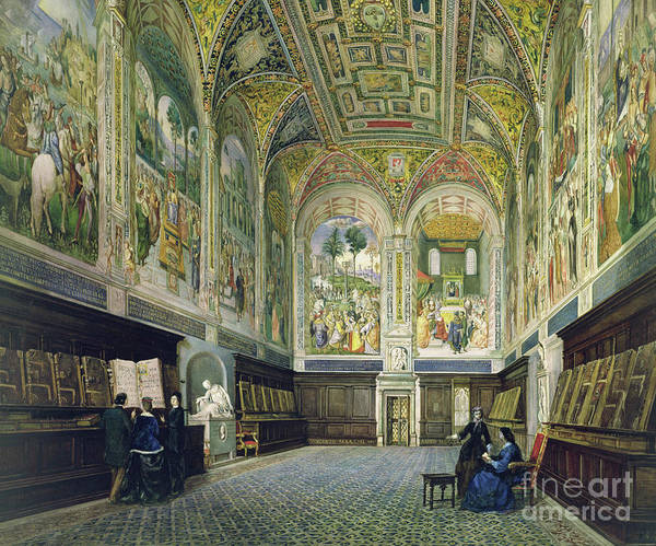 Wall Art - Painting - The Piccolomini Library, Siena by Vincenzo Marchi