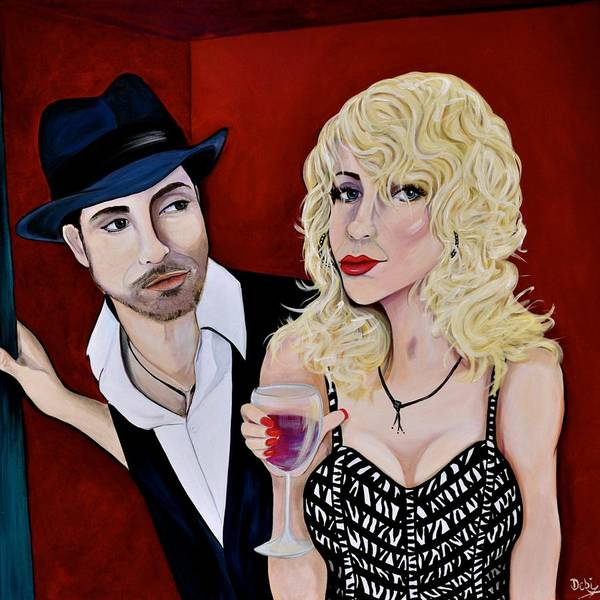 Wall Art - Painting - The Pick-up Line by Debi Starr